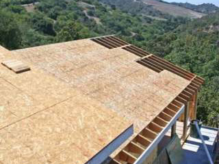 обрешетка крыши из OSB под битумную черепицу