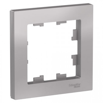 Рамка одинарная Schneider Electric AtlasDesign алюминий