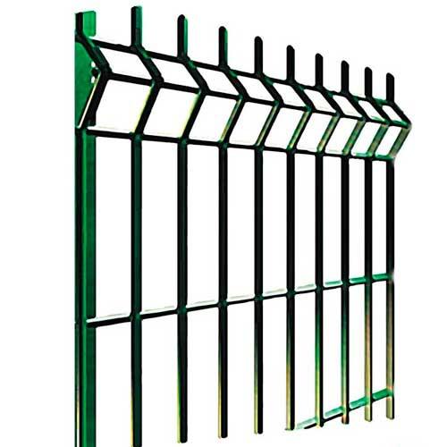 Сварная 3d сетка для забора 1530*2500 (3.5 мм) зеленая (RAL 6005)